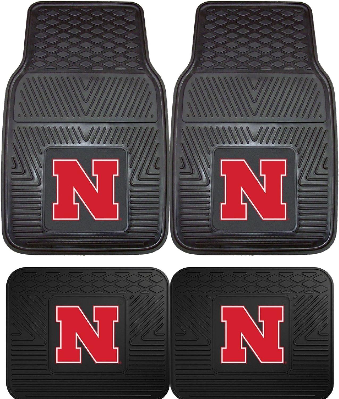 FANMATS NCAA University of Nebraska Cornhuskers Vinyl Heavy Duty Car Mat