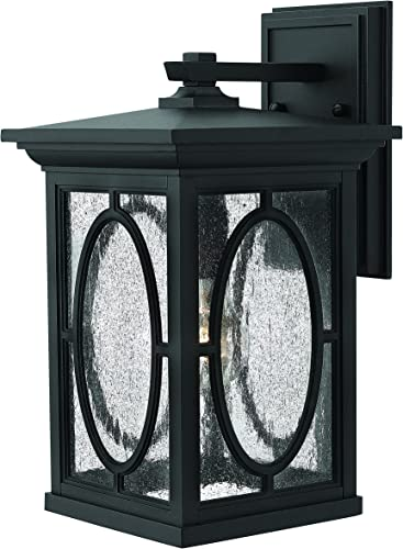 Hinkley 1494BK Transitional One Light Wall Mount from Randolph collection in Blackfinish,