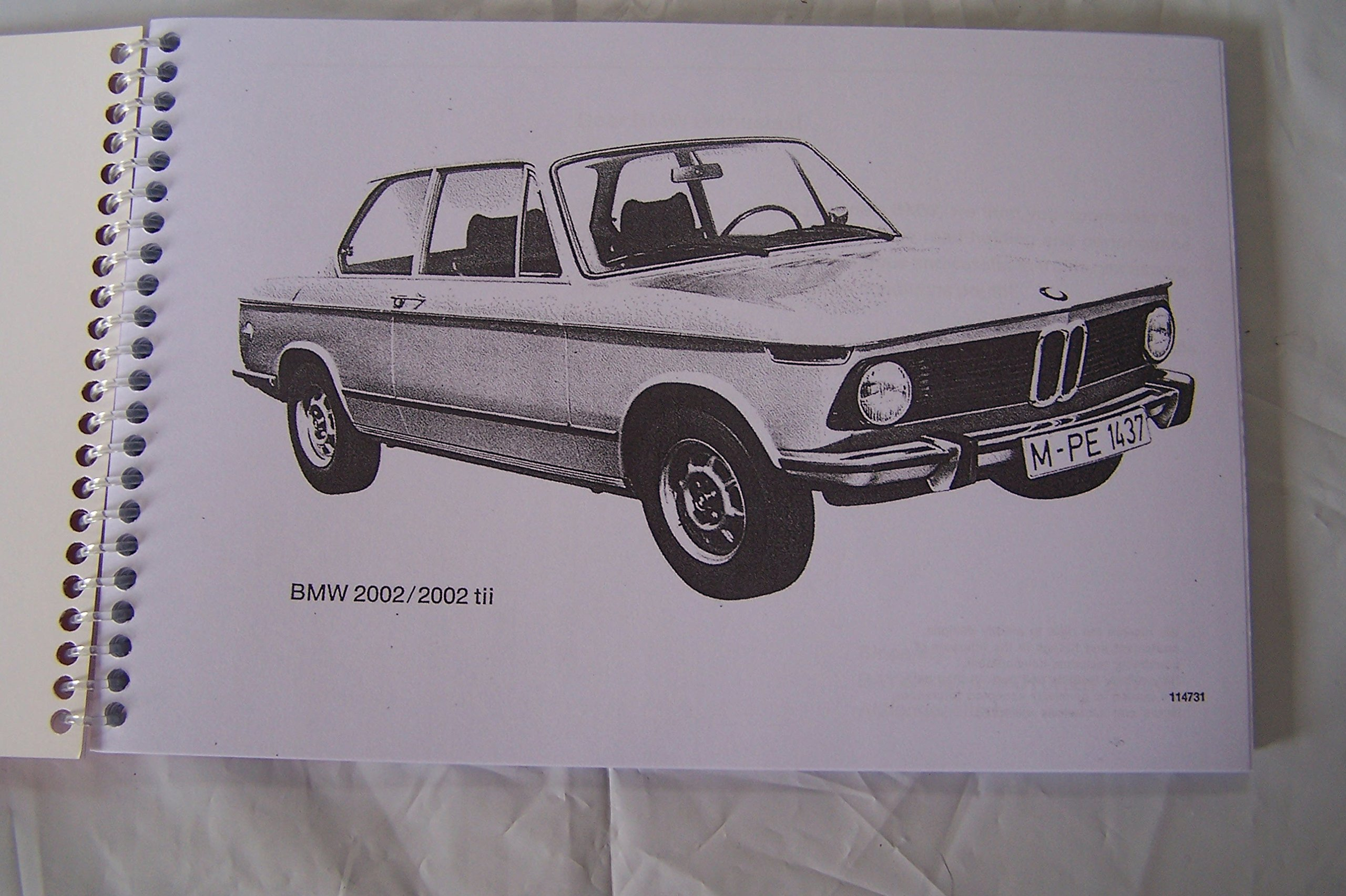 1975 Bmw 2002 Owners Manual 0617215835930 Books Tii Wiring Diagram