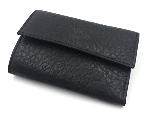 FJR-ArtPiel - Portallaves, estuche de 6 llaves hecho en Piel Ubrique con monedero, billetera y tarjetero - Alta Calidad - Negro