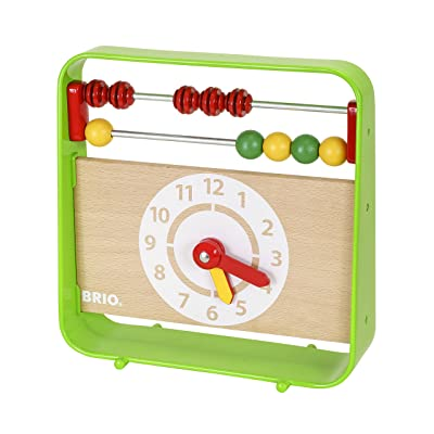 Brio 30447 Abacus with Clock | Fun Preschool Toy for Kids Ages 3 and Up: Toys & Games