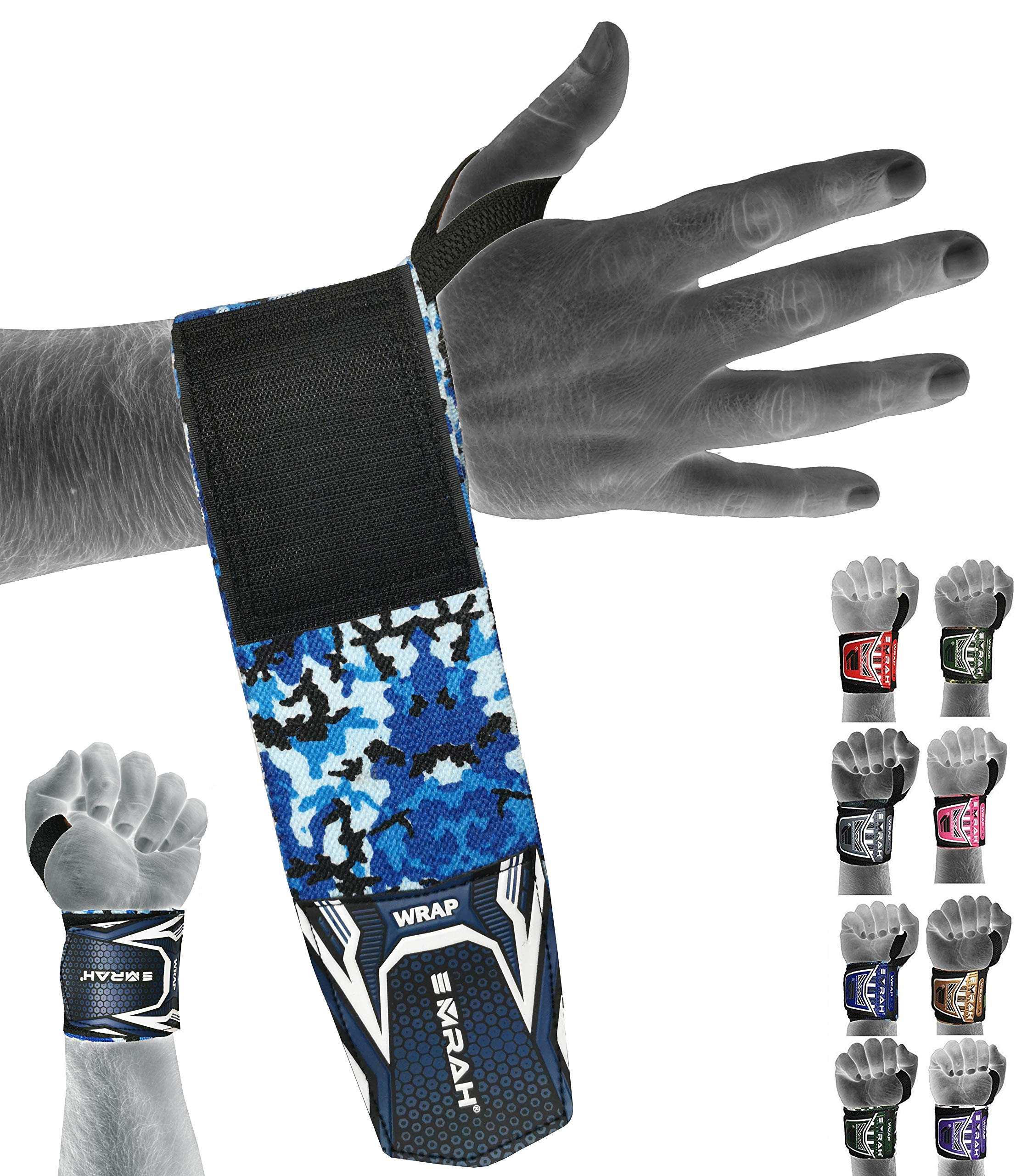 EMRAH Padded Weight Lifting Gym Training Glove Gym Straps Wrap Wrist Support