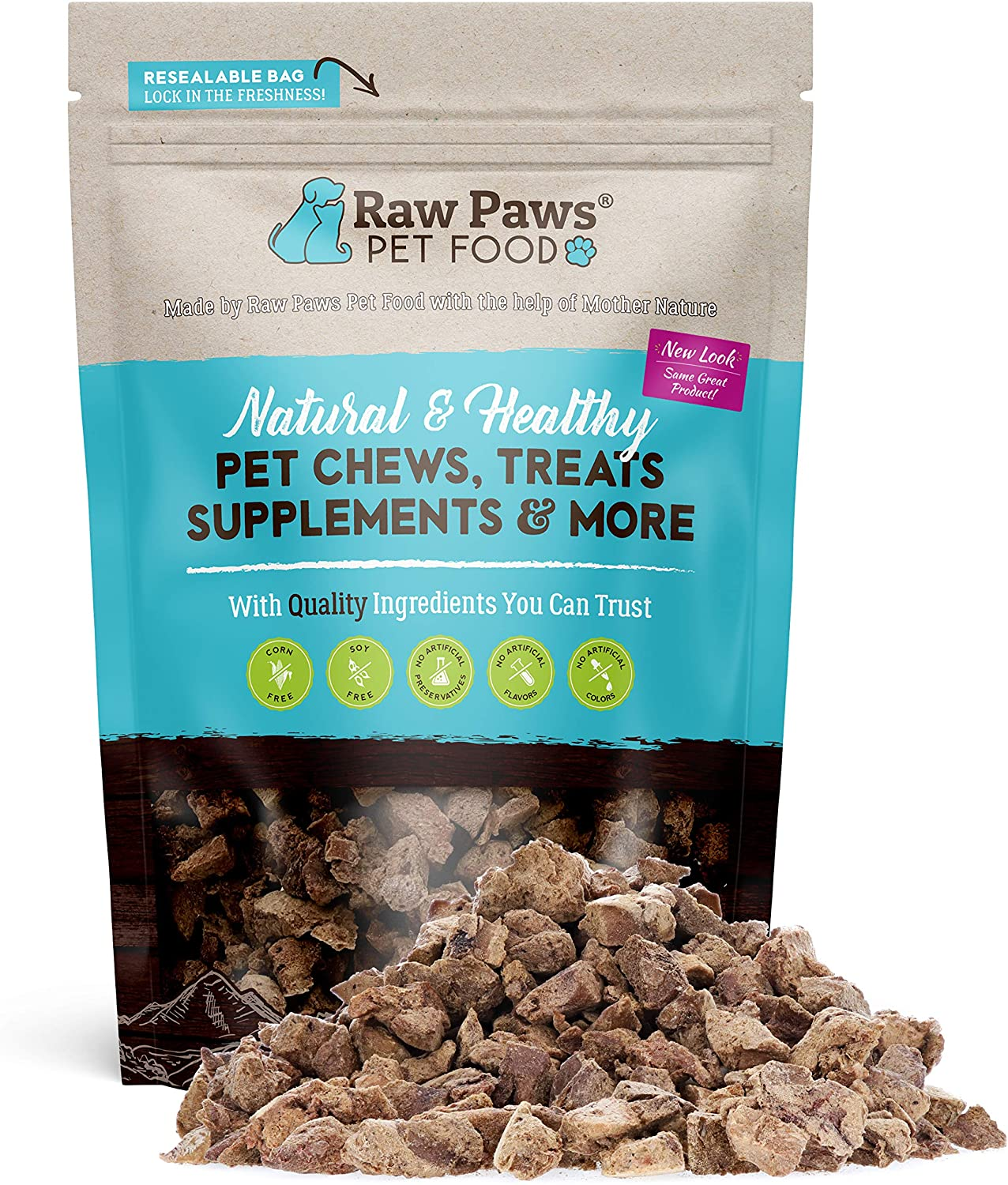 Raw Paws Freeze Dried Chicken Liver for Dogs & Cats, 4-oz - Liver Treats for Dogs Made in USA Only - Human Grade Cat Liver Treats - Freeze Dried Liver Treats for Dogs - Liver Training Treats for Dogs