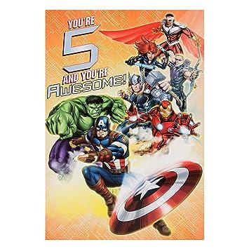 Amazon.com: Avengers 5th tarjeta de cumpleaños: Office Products