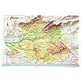 Mapa en relieve de Extremadura: Escala 1:400.000: Amazon.es: All 3D Form, S.L.: Libros