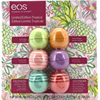 EOS Lip Balm   Limtited Edition Tropical   6 Flavours   Pina Colada, Coconut Milk, Tropical Mango, Island Punch, Fresh Grapefruit and Aloe