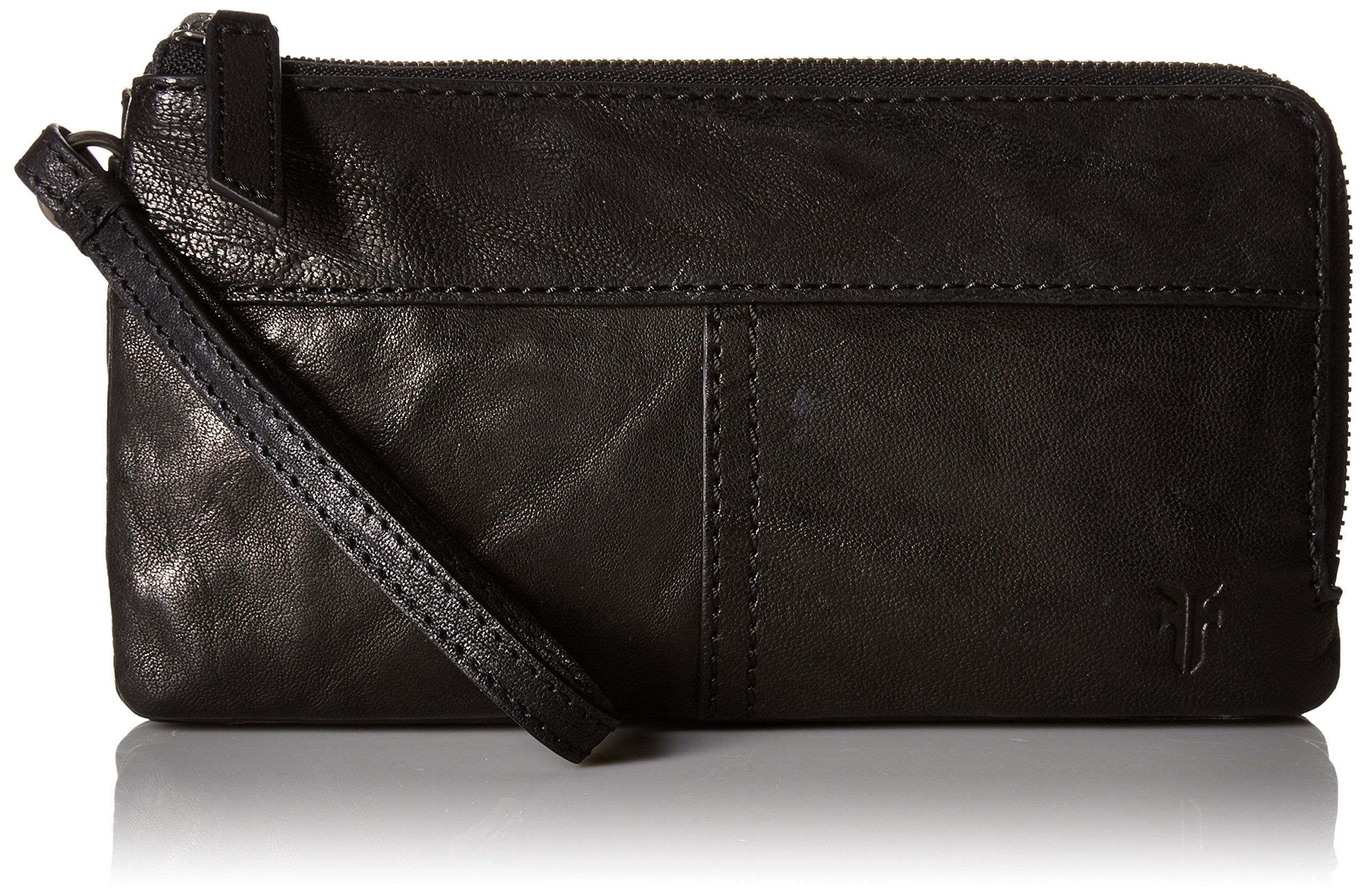 Veronica Double Pouch Wallet Wallet, BLACK, One Size by FRYE