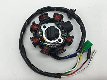 8 Coil Stator for GY6 50cc 150cc Scooters Moped Roketa Taotao Jonway Jonway Cc Gy Scooter Wiring Diagram on gy6 wiring harness diagram, 49cc scooter carburetor diagram, 49cc scooter wiring diagram 2004, 50cc gy6 diagram, 50cc scooter fuel line diagram, gy6 cdi wiring diagram, 49cc carburetor 139qmb diagram, chinese scooter carburetor diagram, gy6 150cc vacuum line diagram, 50cc carburetor diagram, gy6 regulator wiring diagram, gy6 150cc engine diagram, 50cc scooter engine diagram, jonway 49cc scooter diagram,