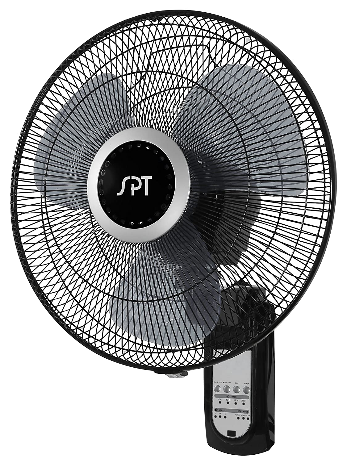 "SPT Wall Mount 16"" Fan with Remote Control"