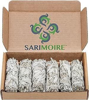"White Sage Smudge Sticks - 6-4"" Sage Bundles - Perfect Sage Stick Smudge Sticks Smudging Kit Replenishment"