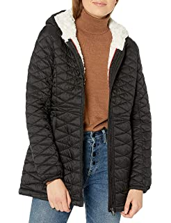 Steve Madden Womens Quilted Softshell Jacket O/_A891H