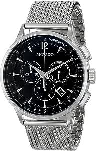Movado Circa 0606803 Chronograph SS Mesh Bracelet Watch for Men