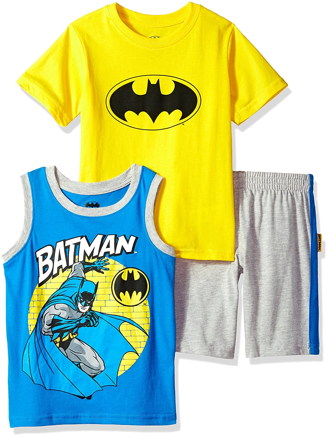 Warner Bros. Boys' Little Batman 3 Piece Short Set Warner Brothers 8WB8715