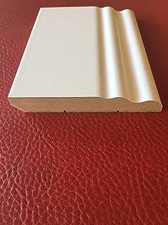 Battiscopa In Legno Bianco Sagomato Inglese Ducale 10 Centimetri