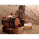 American Oak Barrel with Black Hoops -1 Liter or .26 Gallon