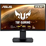 "ASUS TUF Gaming VG24VQ - Monitor gaming curvo de 23.6"" FHD (1920x1080, 144 Hz, 1 ms, Adaptive-Sync/FreeSync, Extreme Low…"