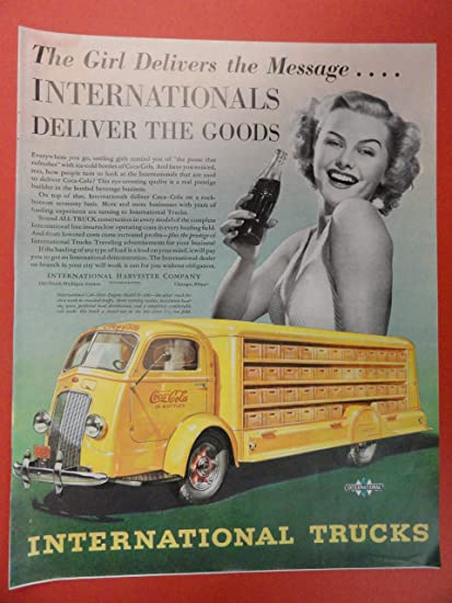 Amazon com: Coca-Cola/International Truck, Vintage 30's full
