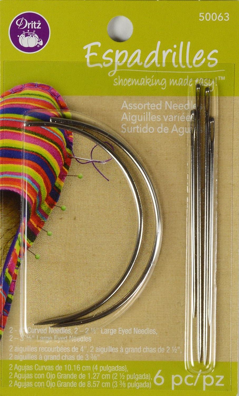 Dritz 50063 6 Count Espadrilles Needles, Assorted Prym Consumer USA