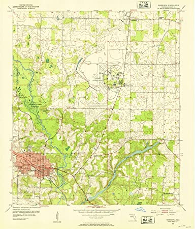 Marianna Florida Map.Amazon Com Florida Maps 1952 Marianna Fl Usgs Historical