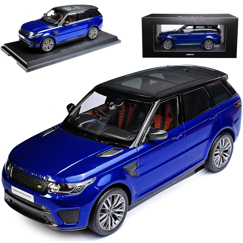 Kyosho Land Rover Range Rover Sport SVR 2. Generation Blau Schwarz Ab 2013 1/18 Modell Auto mit individiuellem Wunschkennzeichen