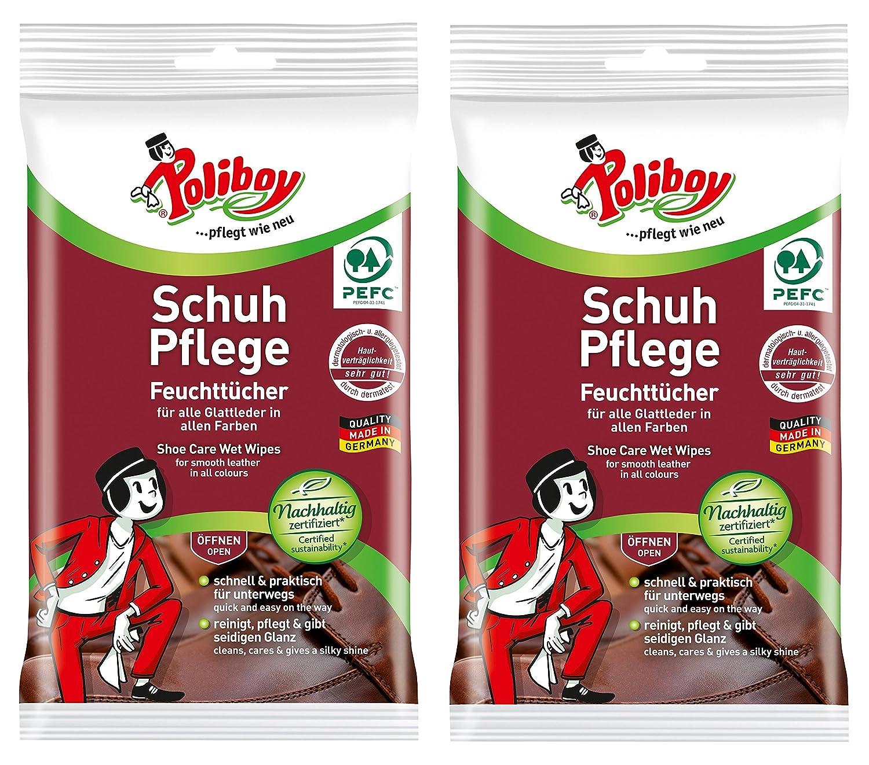 Poliboy - XXL Bad Feuchttücher - - - Kraftvolle & gründliche Reinigung - entfernen Kalk, Schmutz und Seifenreste - 10 x 24 XXL Tücher - Made in Germany B0793T331T Schuhcreme & Pflegeprodukte b27ad9