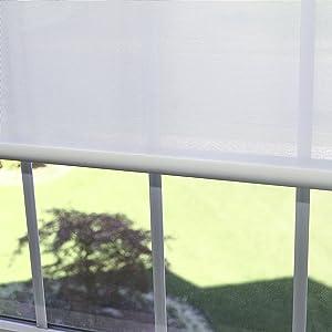 Best Home Fashion Closeout Premium Linen Look Roller Window Shade - White - 28
