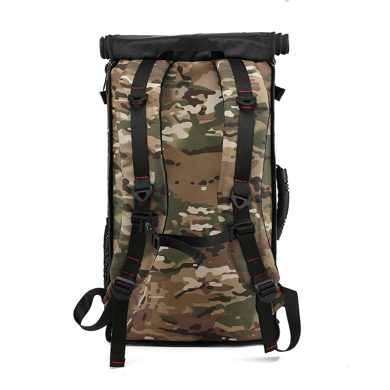 5cec681be846c Trekkingrucksack Wasserabweisend für Damen und Herren Outdoor Rucksack 45L  Wanderrucksack Camping Travel Hiking Camouflage  Amazon.de  Koffer
