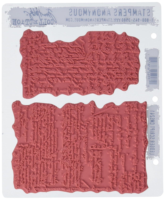 Grigio Art Andato Stamp selvaggio Ledger Script Cling Set