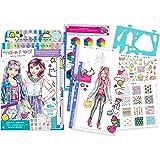Make It Real - Fashion Design Sketchbook: Digital Dream. Inspirational Fashion Design Coloring Book for Girls. Includes Sketc
