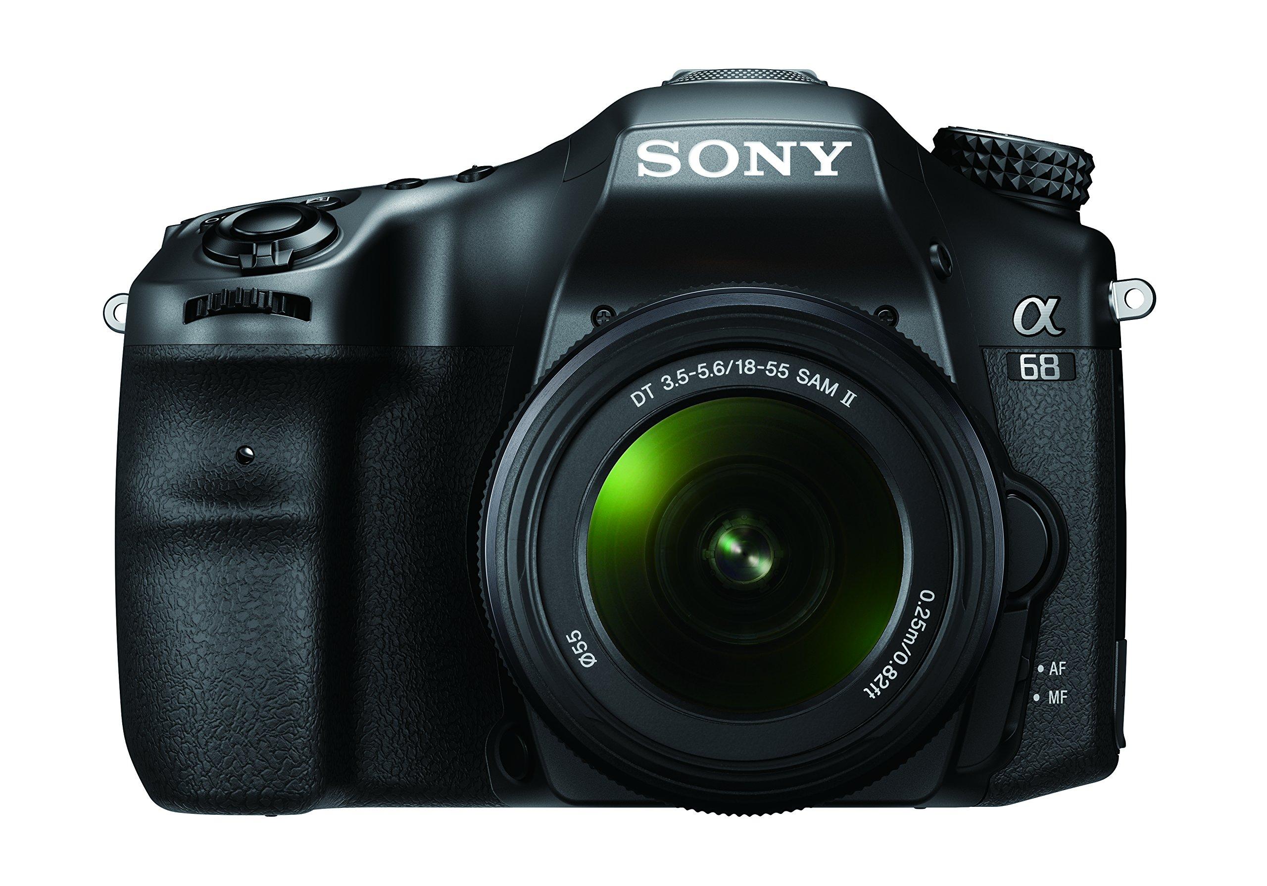 Sony Alpha 68K Kit Fotocamera Digitale Reflex con Obiettivo SEL 18-55 mm, Sensore APS-C CMOS Exmor, 24.2 MP, Nero product image