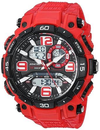 6404903bb Amazon.com: Armitron Sport Men's 20/5270RED Analog-Digital Chronograph Red  Resin Strap Watch: Watches