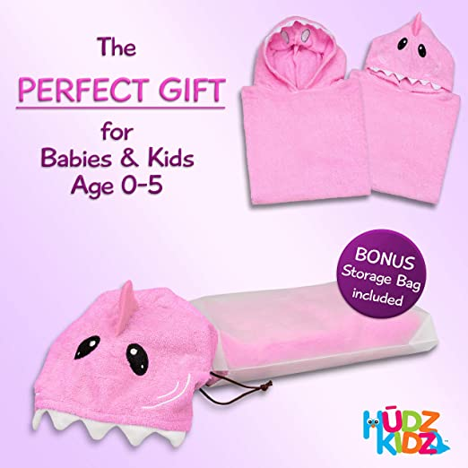 Amazon.com: Hudz Kidz Softest Quick Dry Hooded Kids Shark Towel for Toddler - 5T - All Cotton Gently Snuggles Kids Dry. Get The Towel Moms Love: Home & ...