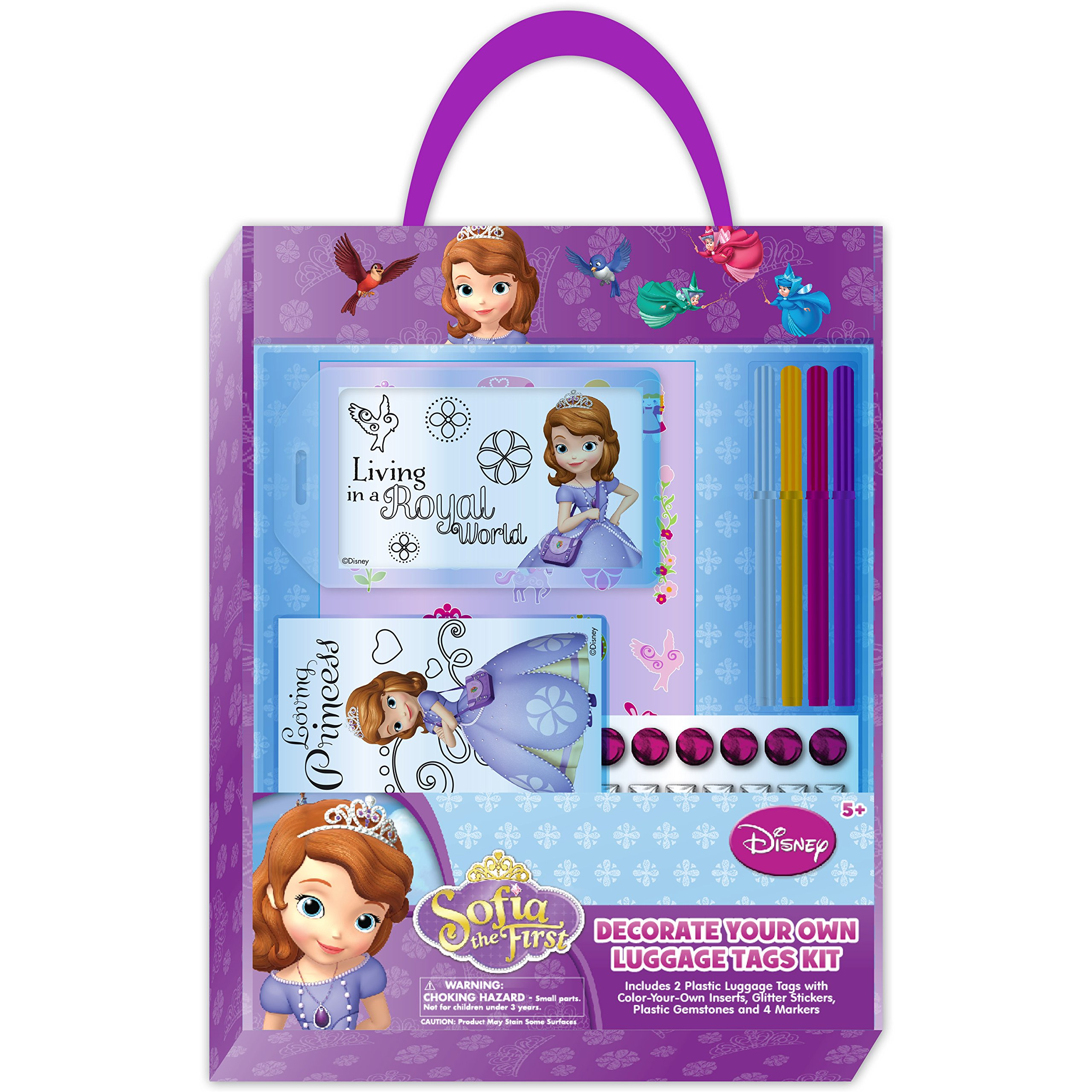 National Design Sofia The First Decorate Your Own Luggage Tags Kit