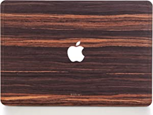 WOODWE Real Wood MacBook Skin for Mac Pro 13 inch with/Without Touch Bar | Model: A1706/A1708/A1989/A2159; Late 2016 – 2019 | Ebony | TOP ONLY