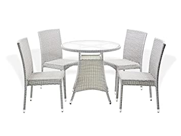Amazon outdoor patio set of 4 wicker side chairs patio resin outdoor patio set of 4 wicker side chairs patio resin outdoor and dining round table garden watchthetrailerfo