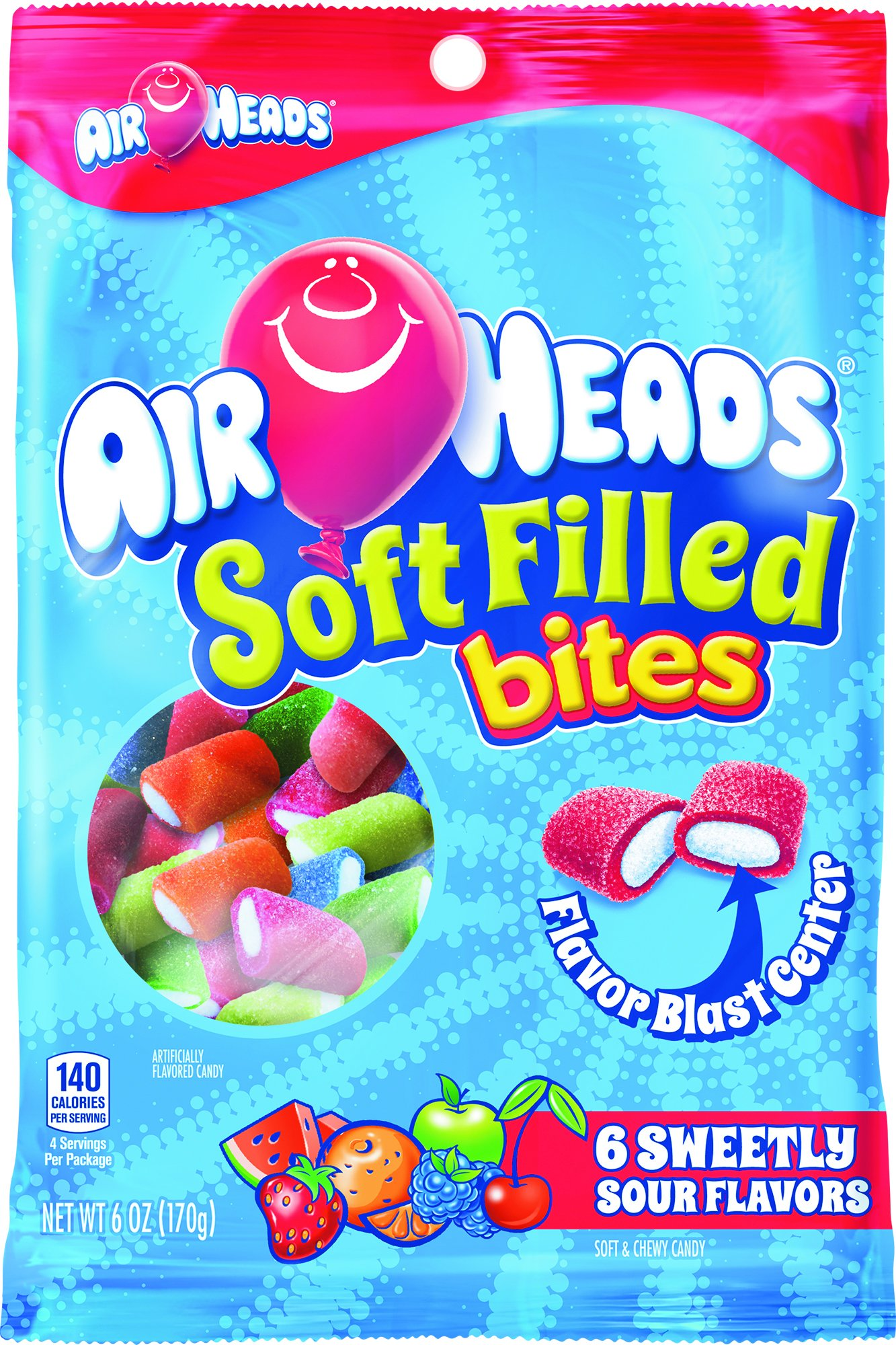 Amazon.com : AirHeads Soft Filled Bites, Party, Halloween, 6 Ounce ...