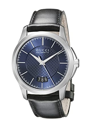 58b35813136 Image Unavailable. Image not available for. Color  Gucci G-Timeless  Stainless Steel Men s Watch with Black Leather Band(Model YA126443