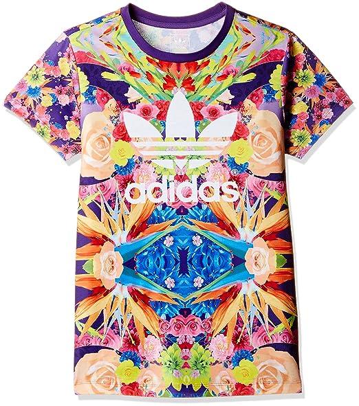 Originals Fleurs Fleur Shirt Enfants Jardin Adidas Violet Trefoil aB1wBq