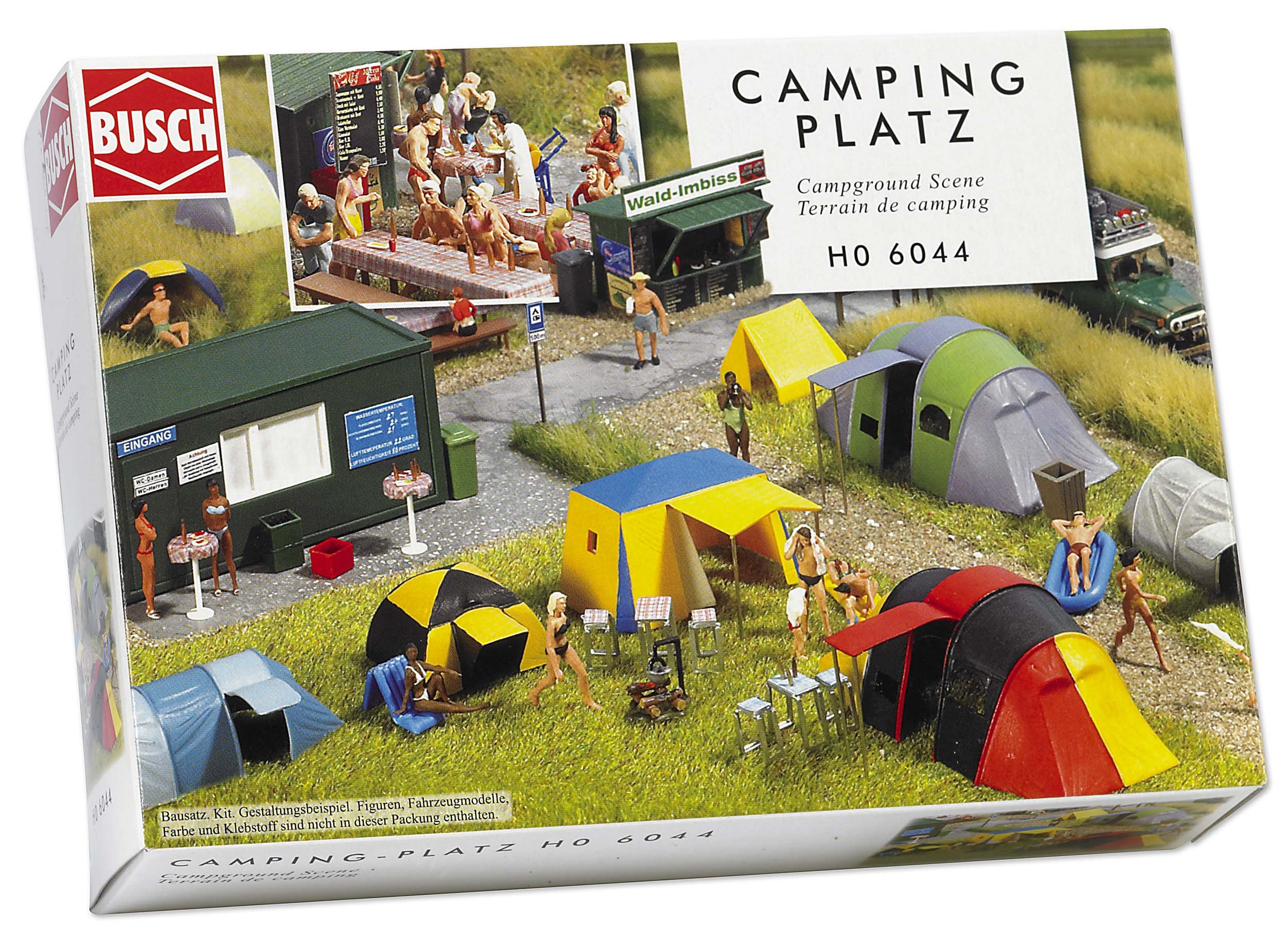 Busch 6044 Campground Scene HO Scale Scenery Kit
