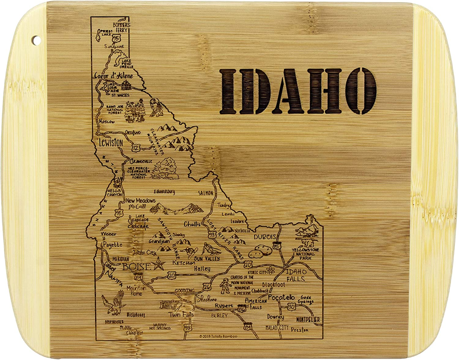 Totally Bamboo A Slice of Life Idaho Bamboo Serving and Cutting Board