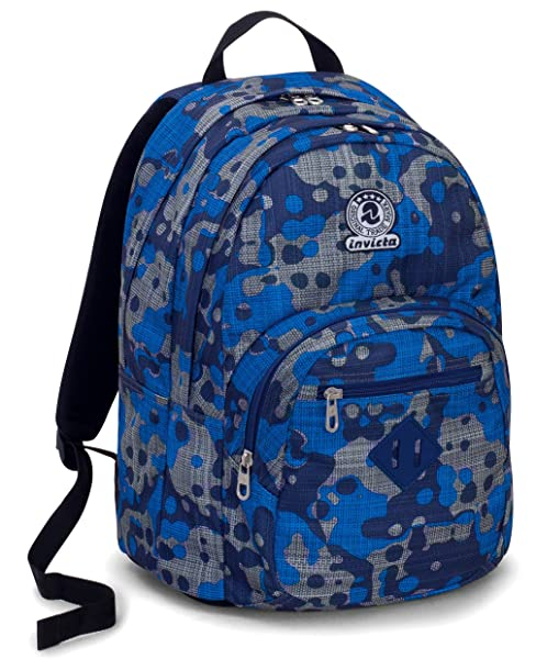 Zaino Invicta Format camouflage blu