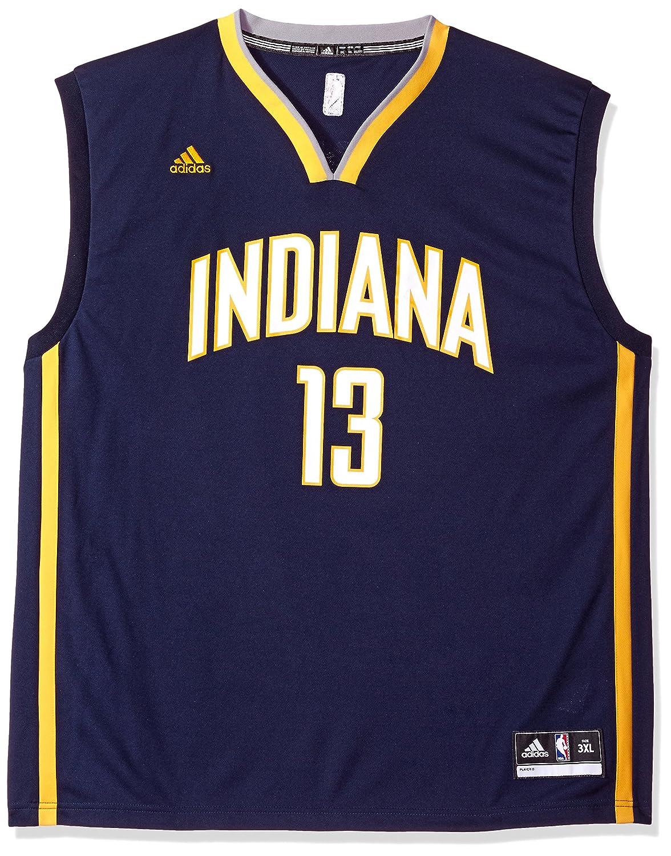Sports Mem, Cards & Fan Shop Paul George Indiana Pacers Adidas NBA Men's Blue Replica Jersey