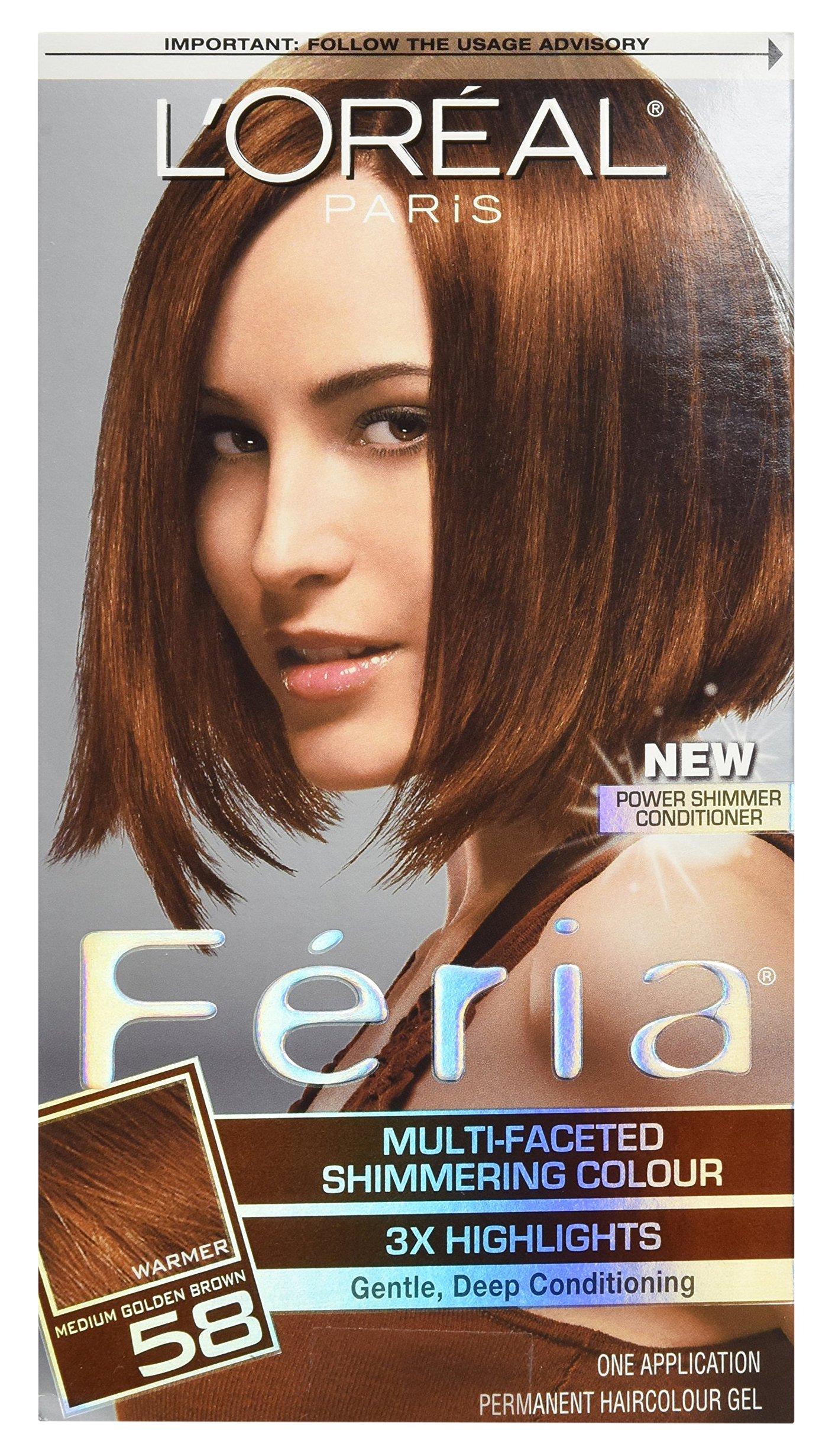 L'Oreal Feria Haircolor, Bronze Shimmer 58 1 ea by L'Oreal Paris