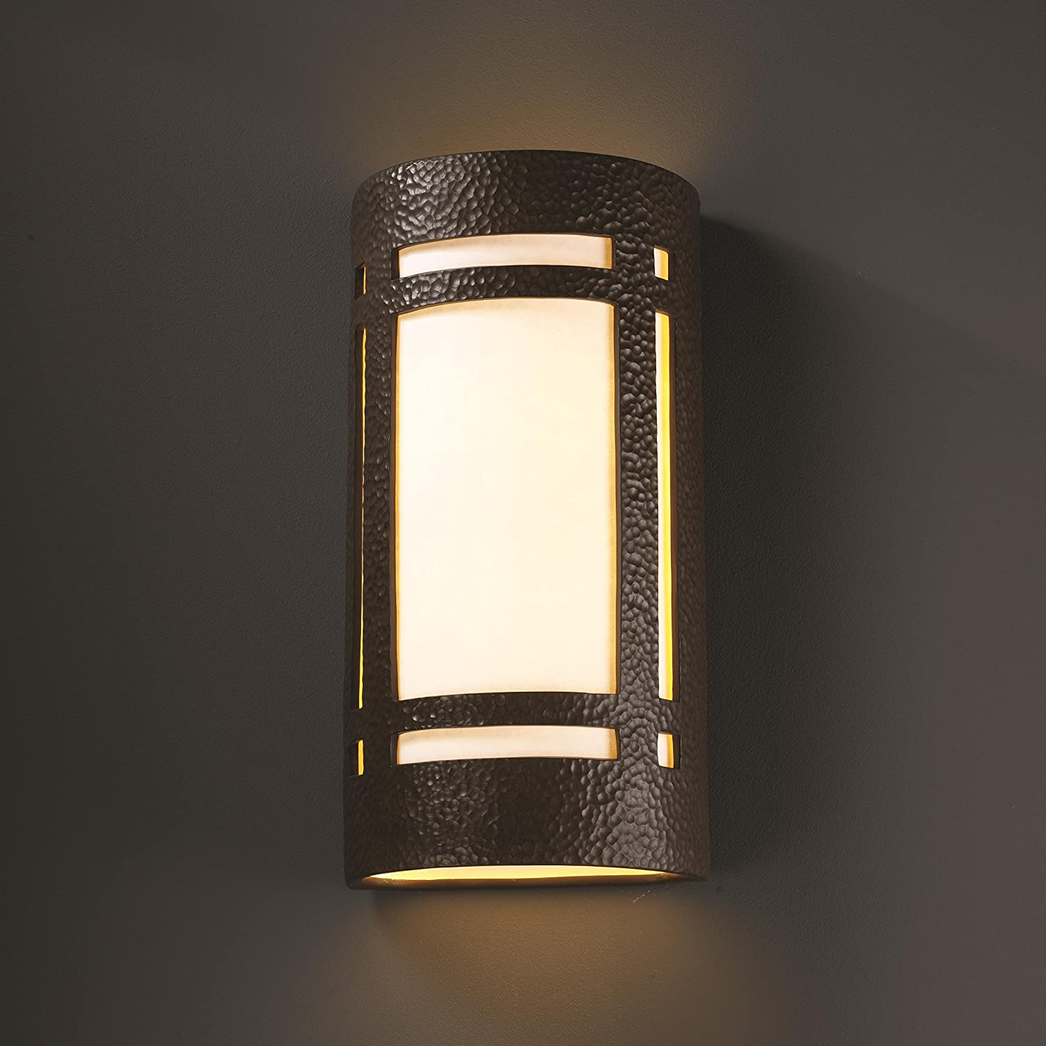 Bisque Finish Justice Design Group Ambiance Collection 2-Light Wall Sconce