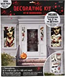 amscan Haunted Asylum Halloween Scene Setters Decorating Kit, Plastic, Pack of 33 Decorations