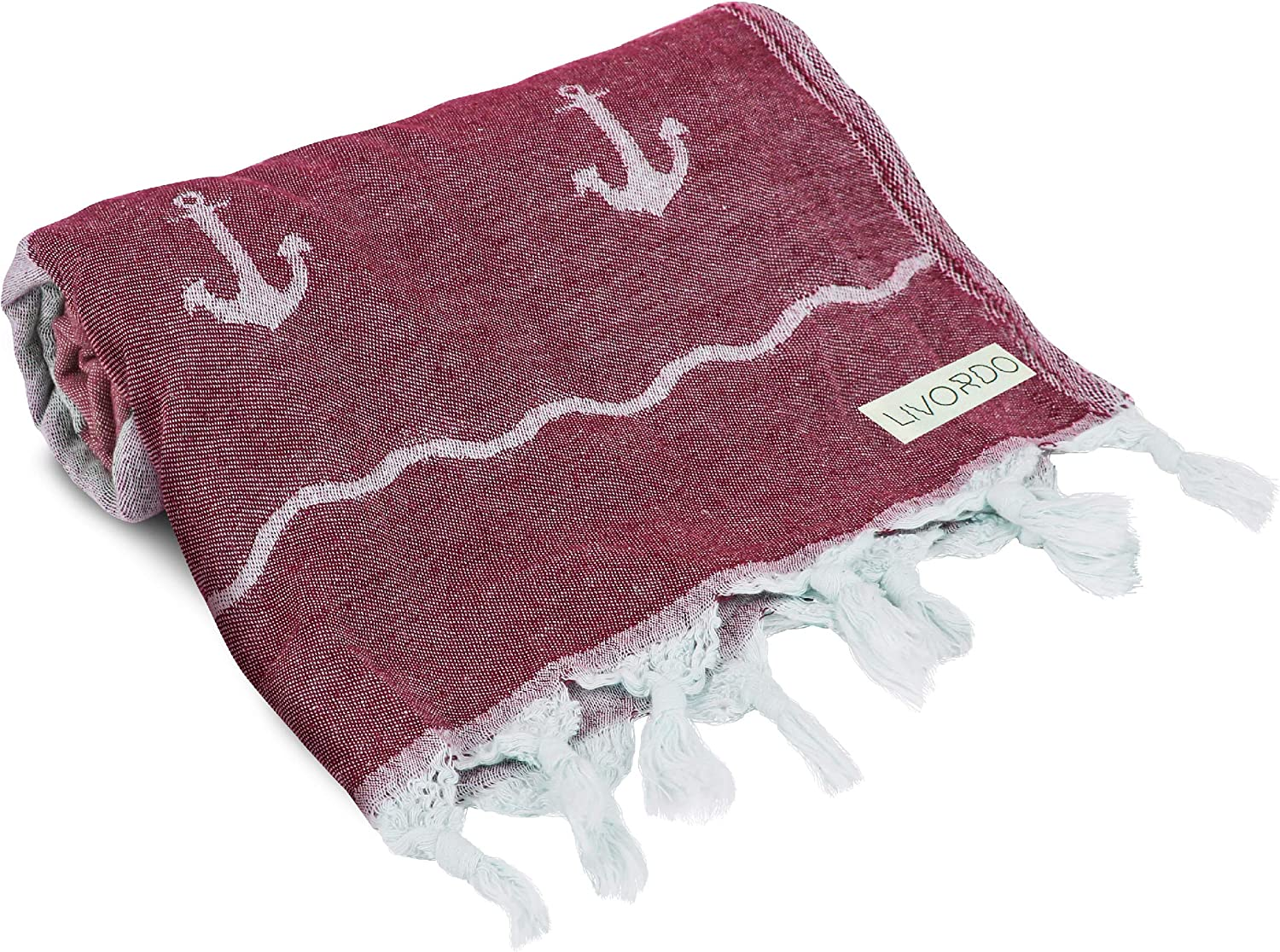Livordo Turkish Towel Beach Towels, Soft, Absorbent 100% Cotton Made in Turkey Quick Dry Lightweight Bath Sheet