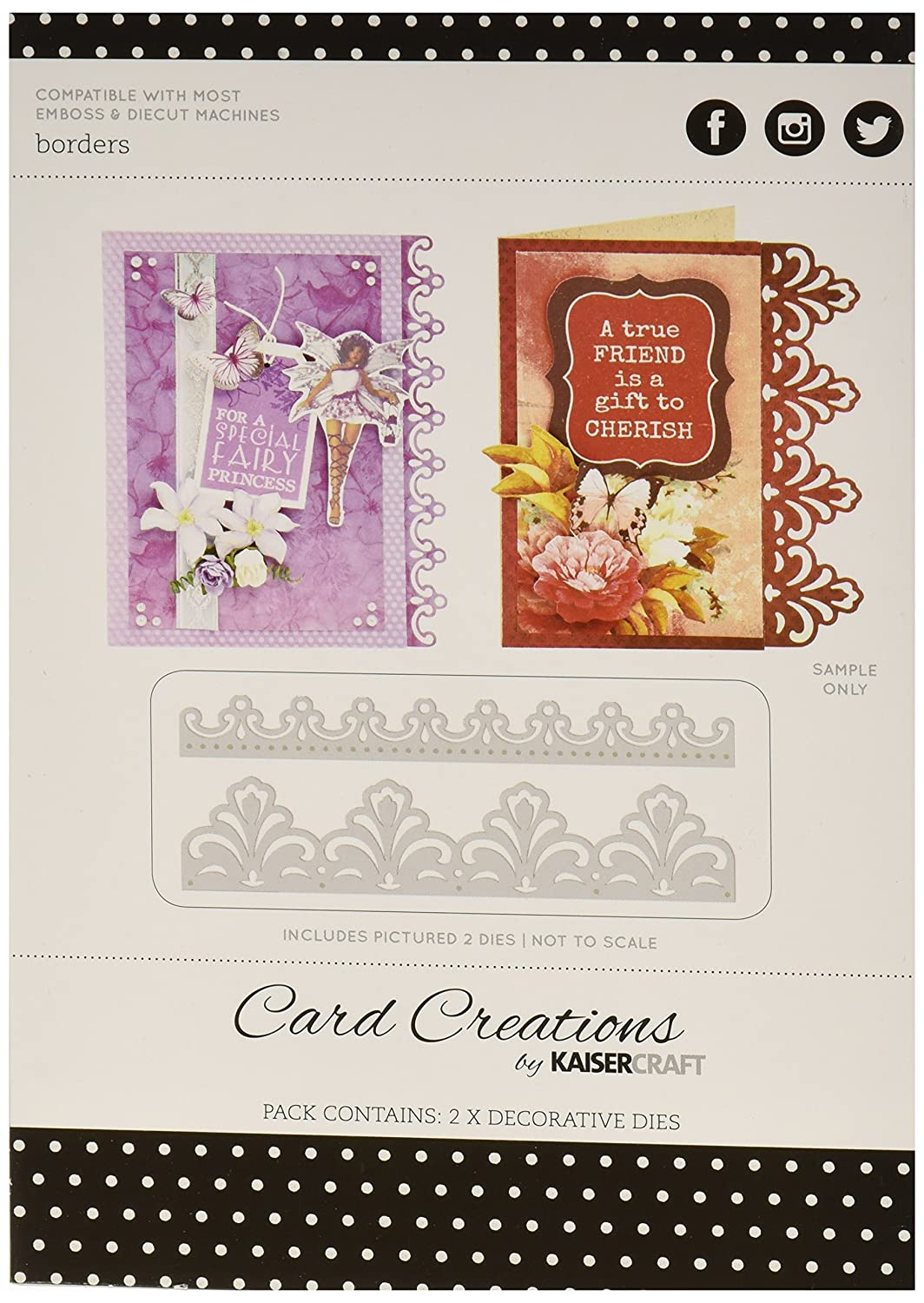 Kaisercraft Lace Edges Card Creations Dies, 6 by Kaisercraft B011Q1Q1DG