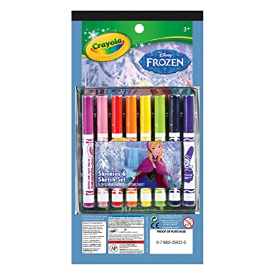 Crayola Frozen 16ct PipSqueak Marker & Paper: Toys & Games