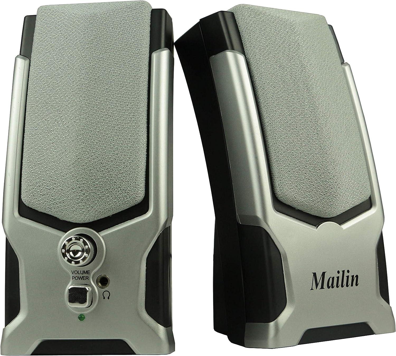 Mailin Computer Speaker 2.0 Stereo Speaker Laptop Speaker Desktop Speaker Notebook Speaker 5W Small Cute Size USB Computer Speaker