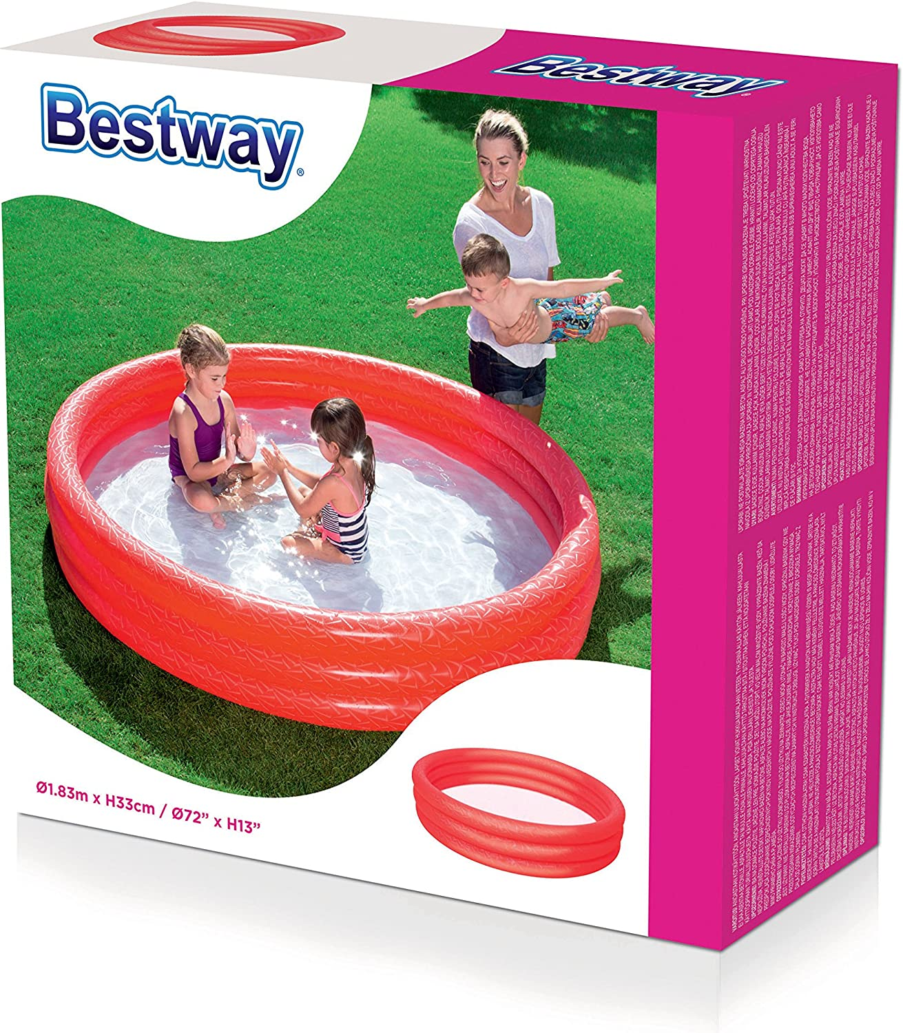 Splash and Play 3 Ring Pool Green 1.52m x 30cm